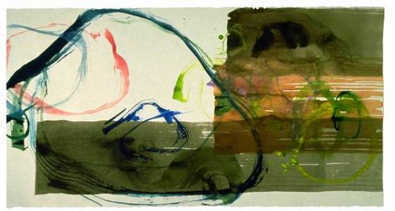 "JOHN CAGE, ""New River Watercolor Series I"", #5, 1988"