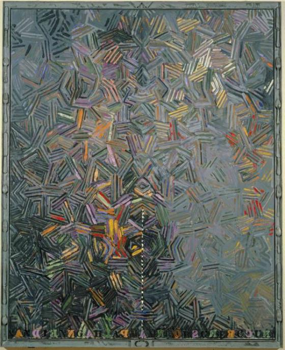 "JASPER JOHNS, ""Dancers on a Plane"", 1980–81"