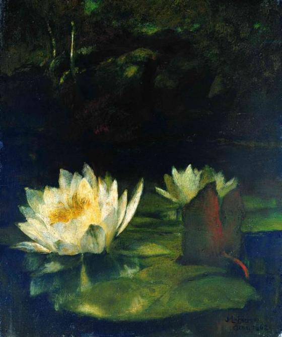 "JOHN LA FARGE, ""The Last Waterlilies"", 1862"